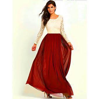 5be050d9b7 Red Chiffon Skirt & White Top - Faash Wear