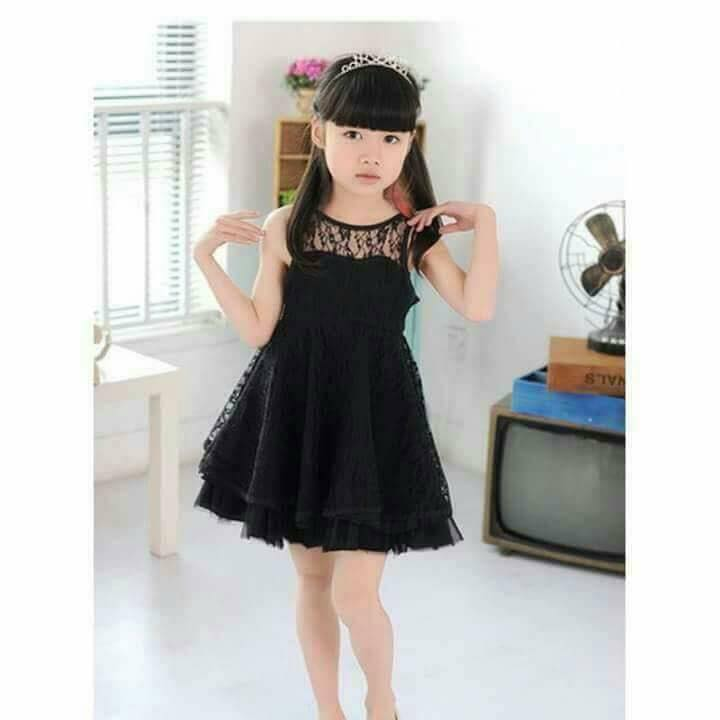 f78690ffa40b Baby Black Net Frock - Faash Wear